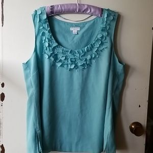 Charter Club Blue Blouse with Circle Neckline
